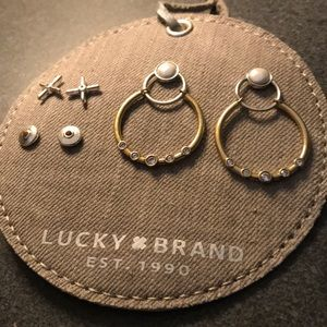 NEW 3 pairs of earrings Lucky Brand